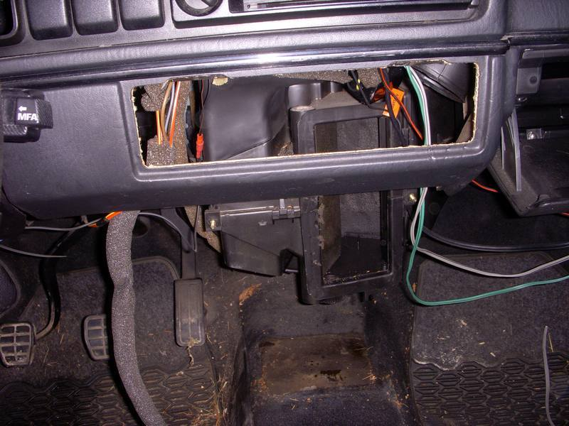 Vw golf ii toutes remplacement radiateur chauffage tuto - Comment demonter console centrale golf 4 ...