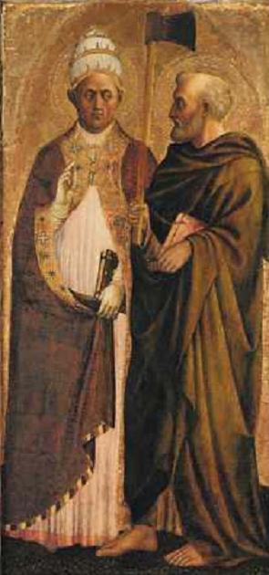 Saint Grégoire le Grand et saint Matthias. Masolino. XVe.