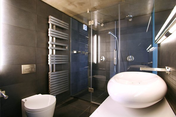 Photos de salle de bains design for Loft bathroom ideas design