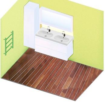 Salle de bains pont de bateau for Restaurer une salle de bain