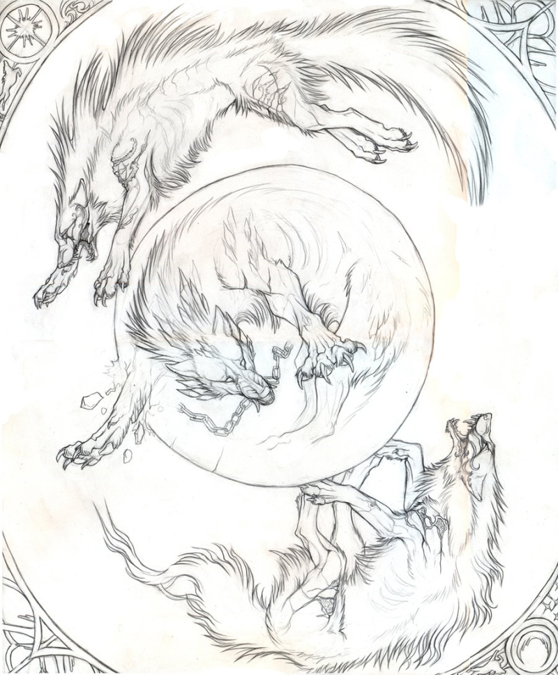 Skoll, Hati and Fenrir