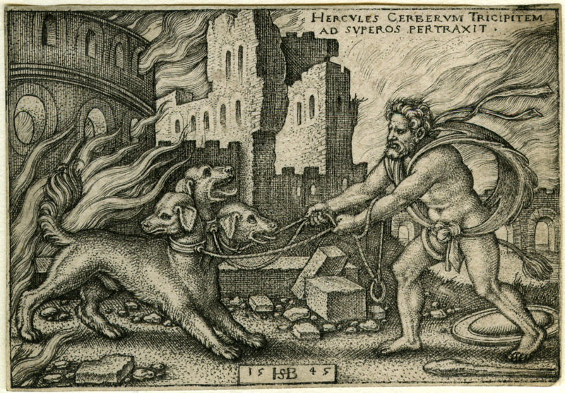 Porte De Chambre Forte : Hercules Capturing Cerberus