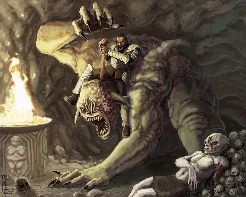 Beowulf contre la mère de Grendel