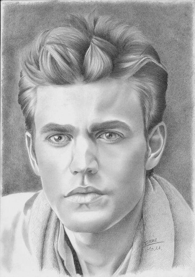 Mon tout dernier portrait paul wesley - Dessin vampire diaries ...