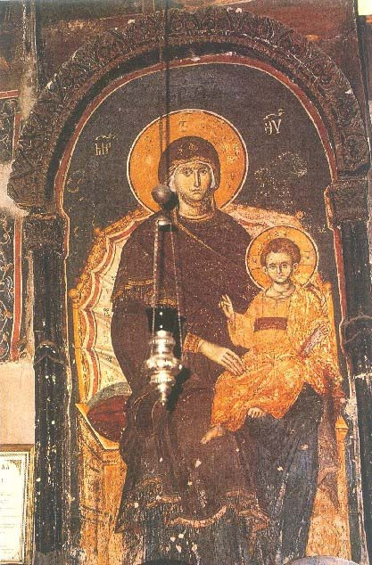 fresque de la Theotokos a Constantinople