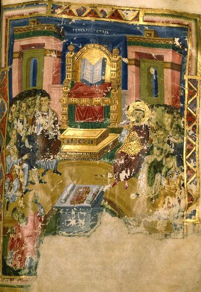 2eme Concile Oecumenique de Constantinople, enluminure byzantine de 880, manuscrit BNF