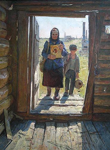 Le retour, tableau de Dmitry Petrov, 2005