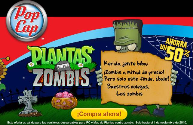Plants vs.Zombies Halloween 2
