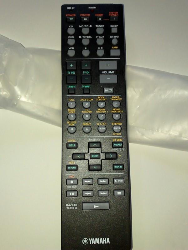 Yamaha rav246 remote control new sold for Yamaha remote control app