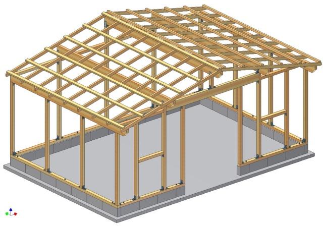 Abri box 9m x 3m pour chevaux - Marc fait des plans pour construire un abri de jardin ...