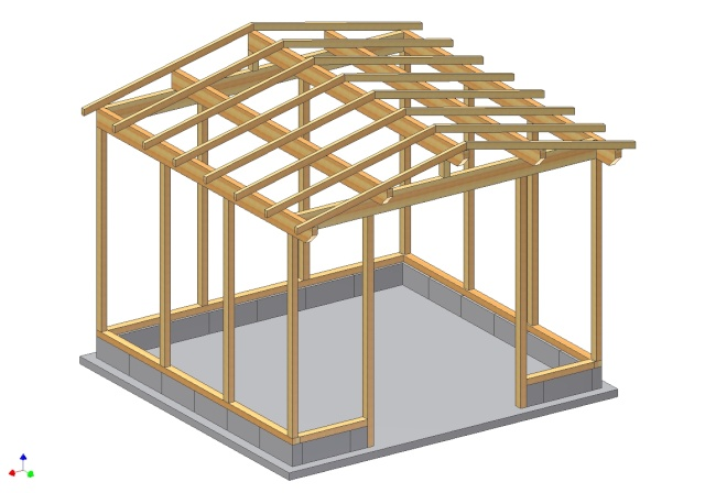 Abri box 9m x 3m pour chevaux - Fabriquer une chevre pour couper le bois ...