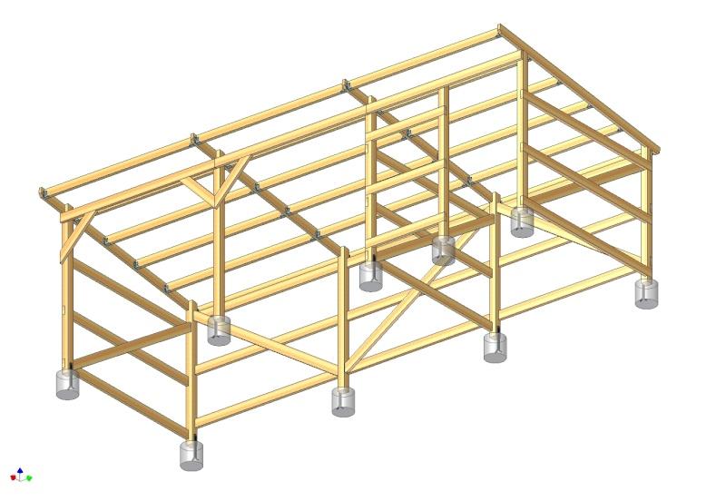 abri box 9m x 3m pour chevaux. Black Bedroom Furniture Sets. Home Design Ideas